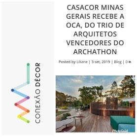 MURAD MOHAMAD, JÉSSICA SARRIÁ E BÁRBARA BARDI no site CONEXÃO DECOR em 3 de setembro de 2019 (INSTAGRAM)