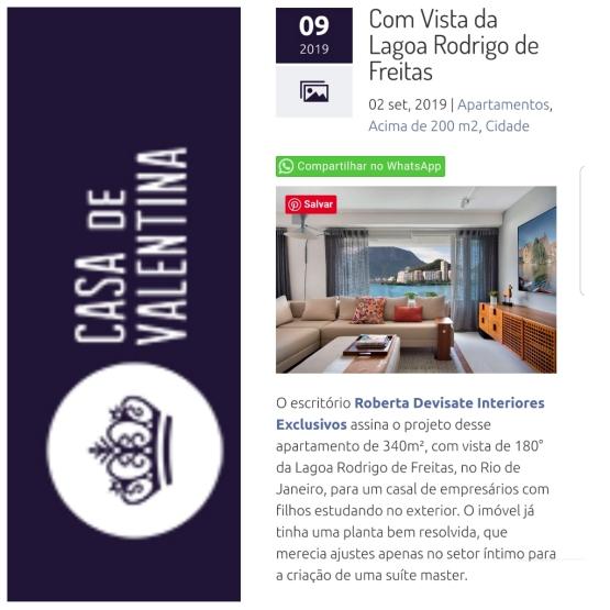 ROBERTA DEVISATE no site CASA DE VALENTINA publicado em 2 de setembro de 2019