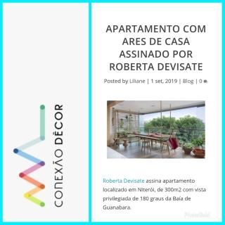 ROBERTA DEVISATE no site CONEXÃO DECOR publicado em 1 de setembro de 2019 (INSTAGRAM)