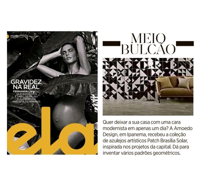 AMOEDO DESIGN na revista ELA em 13 de outubro de 2019