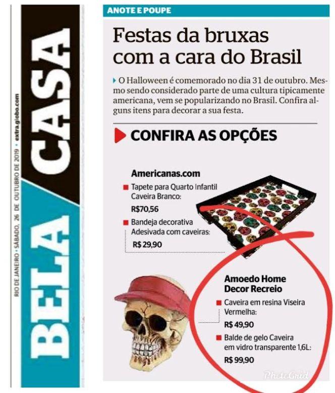 AMOEDO DESIGN no caderno BELA CASA do jornal OGLOBO em 26 de outubro de 2019