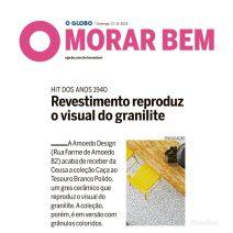 AMOEDO DESIGN no caderno MORAR BEM do jornal OGLOBO em 27 de outubro de 2019 (INSTAGRAM)