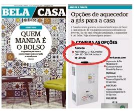 AMOEDO no caderno BELA CASA do jornal OGLOBO em 12 de outubro de 2019