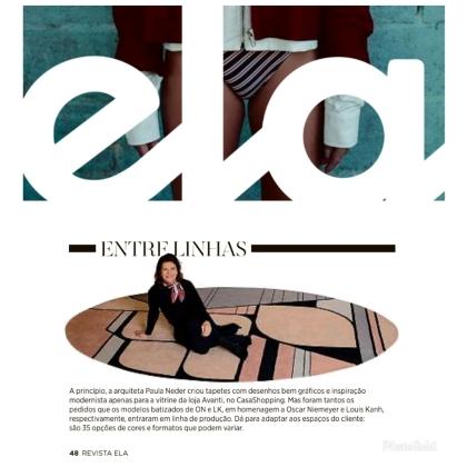 AVANTI TAPETES na revista ELA em 6 de outubro de 2019