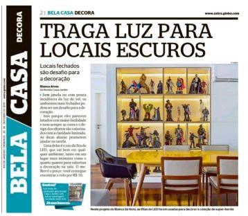 BIANCA DA HORA no caderno BELA CASA do jornal EXTRA em 20 de outubro de 2019