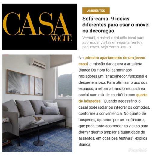 BIANCA DA HORA no site CASA VOGUE em 20 de outubro de 2019