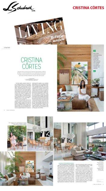 CRISTINA CORTES na revista LIVING em 3 de outubro de 2019