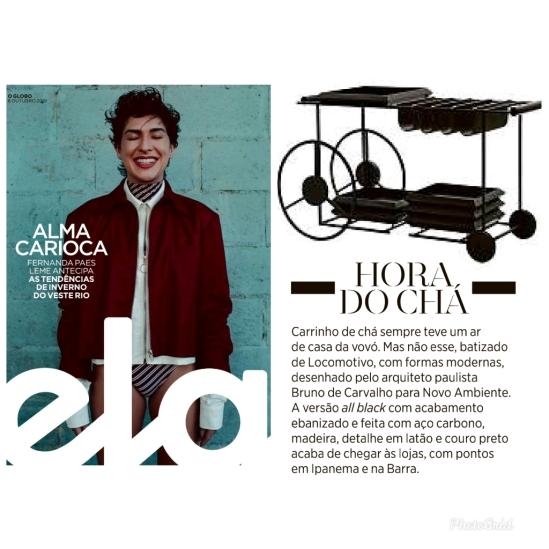 NOVO AMBIENTE na revista ELA em 6 de outubro de 2019