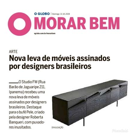 STUDIO FW no caderno MORAR BEM do jornal OGLOBO em 13 de outubro de 2019