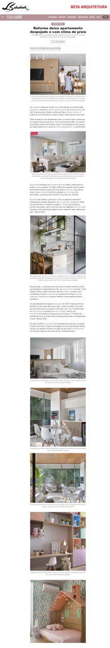 BETA ARQUITETURA no site CASA E JARDIM em 20 de novembro de 2019