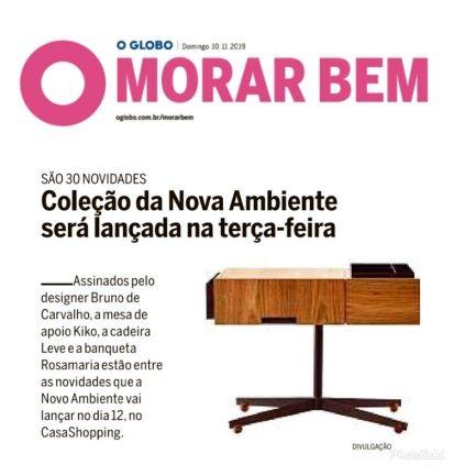 NOVO AMBIENTE no caderno MORAR BEM do jornal OGLOBO em 10 de novembro de 2019
