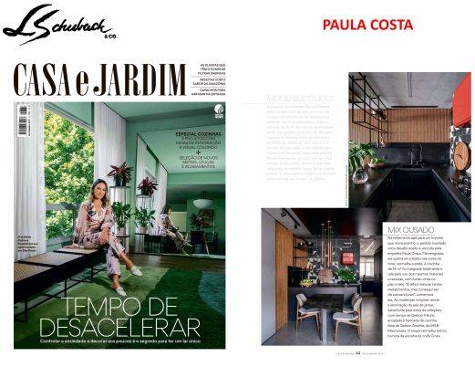 PAULA COSTA na revista CASA E JARDIM de novembro de 2019