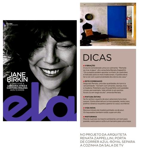 RENATA DECOR na revista ELA em 17 de novembro de 2019