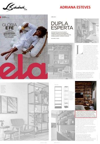 ADRIANA ESTEVES na revista ELA, do jornal O Globo, em 22 de dezembro de 2019
