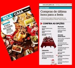 AMOEDO HOME DECOR no caderno Bela Casa, do jornal Extra, em 22 de dezembro de 2019
