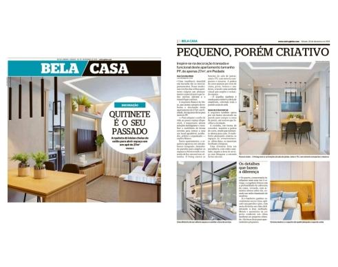 BIANCA DA HORA no caderno BELA CASA, do jornal Extra, em 28 de dezembro de 2019