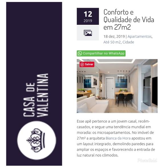 BIANCA DA HORA no site CASA DE VALENTINA publicado em 18 de dezembro de 2019