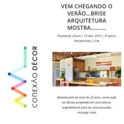BRISE ARQUITETURA no site CONEXÃO DECOR em 15 de dezembro de 2019