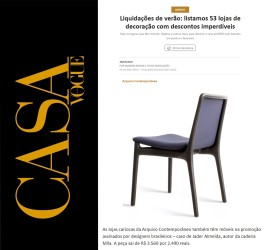 ARQUIVO CONTEMPORÂNEO no site da CASA VOGUE em 28 de janeiro de 2020