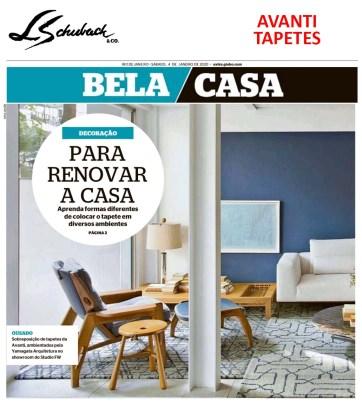 AVANTI no caderno BELA CASA, do jornal EXTRA, em 4 de janeiro de 2020