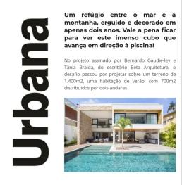 BETA ARQUITETURA no site da REVISTA URBANA publicado em 12 de janeiro de 2020