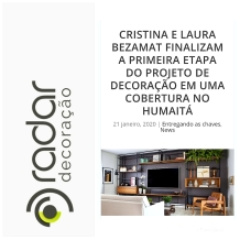 BEZAMAT ARQUITETURA no site RADAR DECORAÇÃO publicado em 21 de janeiro de 2020