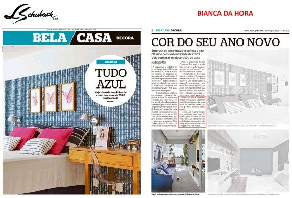 BIANCA DA HORA no caderno BELA CASA, do jornal EXTRA, em 5 de janeiro de 2020