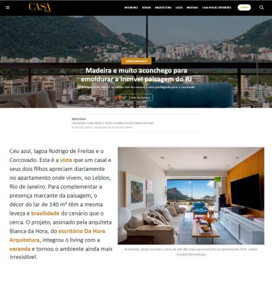 BIANCA DA HORA no site da revista CASA VOGUE em 28 de janeiro de 2020 - insta