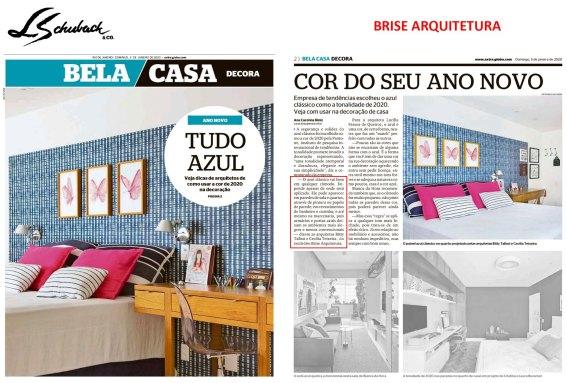 BRISE ARQUITETURA no caderno BELA CASA, do jornal EXTRA, em 5 de janeiro de 2020