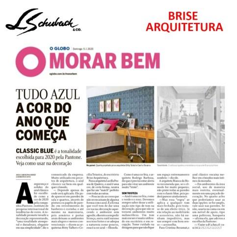 BRISE ARQUITETURA no caderno MORAR BEM, do jornal O GLOBO, em 5 de janeiro de 2020