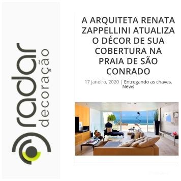 RENATA DECOR no site RADAR DECORAÇÃO publicado em 17 de janeiro de 2020