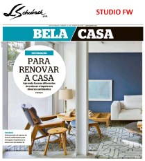 STUDIO FW no caderno BELA CASA, do jornal EXTRA, em 4 de janeiro de 2020