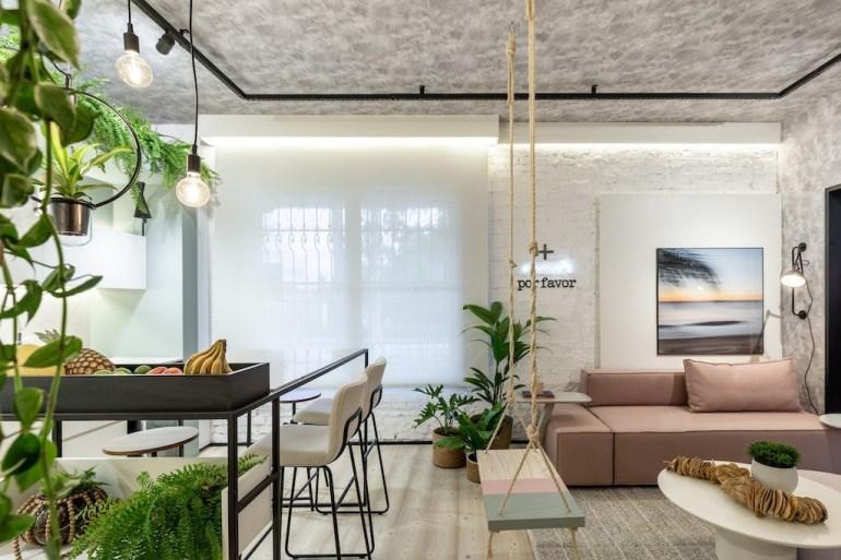 Loft-da-Estudante-Estar-Cozinha-LR-Arquitetura-4-design-biofilico-morar-mais